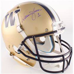 Warren Moon Signed Washington Huskies Full-Size Helmet (Radtke COA)