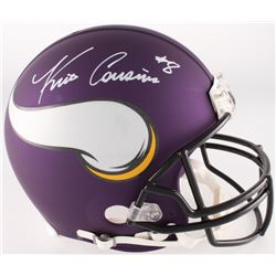 Kirk Cousins Signed Vikings Custom Matte Purple Full-Size Speed Helmet (Beckett COA)