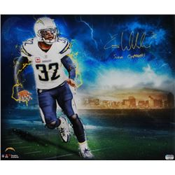 "Eric Weddle Signed Chargers 20x24 Poster Inscribed ""Super Chargers"" (Fanatics Hologram)"