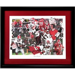 "Georgia Bulldogs ""Dogs of Destiny"" 2002 SEC Championship 26x31 Custom Frame LE Print Signed by (13)"