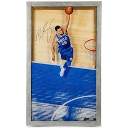 "Ben Simmons Signed LE 76ers ""Great From Above"" 16x28 Framed Acrylic Display (UDA COA)"
