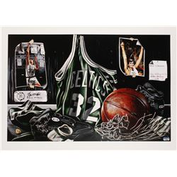 "Kevin McHale Signed LE ""Tribute to Greatness"" 24x34 Lithograph (Fanatics Hologram)"