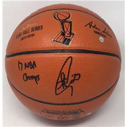 "Stephen Curry Signed LE NBA Finals Game Ball Series Basketball Inscribed ""17 NBA Champs"" (Steiner CO"