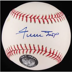 Willie Mays Signed OML Baseball (Fanatics Hologram  Willie Mays Hologram)