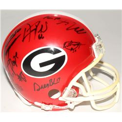2005 SEC Champions Signed Georgia Bulldogs Mini-Helmet with (8) Signatures Including D.J Shockley, G
