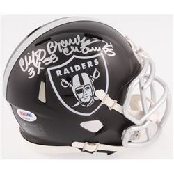 "Cliff Branch Signed Raiders Blaze Mini Helmet Inscribed ""3x SB Champs"" (PSA COA)"
