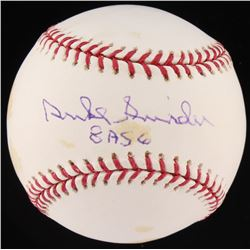 "Duke Snider Signed OML Baseball Inscribed ""8 ASG""(MLB Hologram  Fanatics Hologram)"