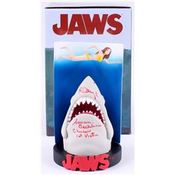 "Richard Dreyfuss  Susan Backlinie Signed Jaws - Swimmer Poster Premium Motion Statue Inscribed ""Chri"