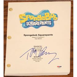 "Tom Kenny Signed ""Spongebob Squarepants"" Full Episode Script (PSA COA)"