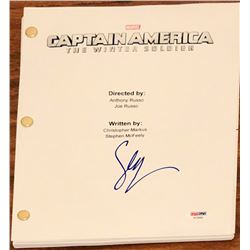 "Sebastian Stan Signed ""Captain America: The Winter Soldier"" Full Movie Script (PSA COA)"