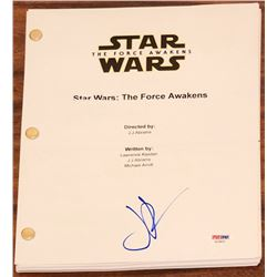 "JJ Abrams Signed ""Star Wars: The Force Awakens"" Full Movie Script (PSA COA)"