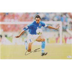 Paolo Maldini Signed 11x17 Print (JSA COA)
