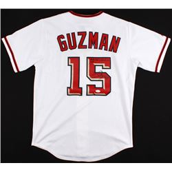 "Cristian Guzman Signed Nationals Jersey Inscribed ""Favre Has Nothing On Me...""  (JSA COA)"