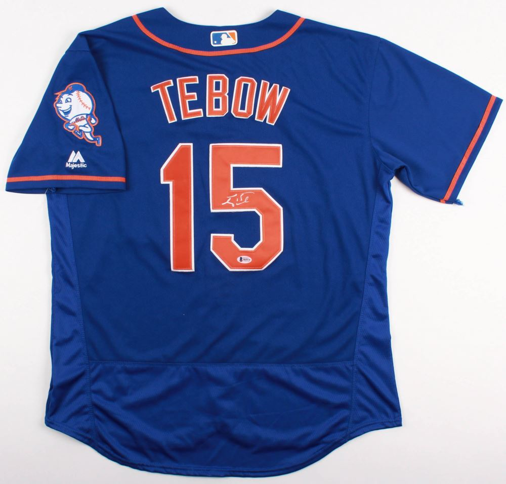 check out c5f5a 92765 Tim Tebow Signed Mets Jersey (JSA COA)