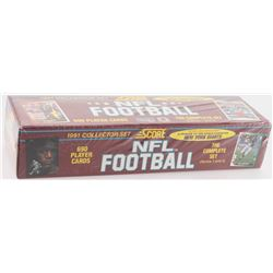 1991 Score Collector Complete Hobby Set of (690) Football Cards