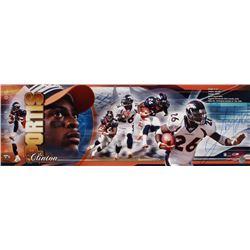 Clinton Portis Signed LE Broncos 12x36 Poster (Fanatics Hologram)