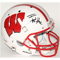 T. J. Watt Signed Wisconsin Badgers Full-Size Helmet (JSA COA)