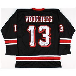 "Ari Lehman Signed Jason Voorhees Hockey Jersey Inscribed ""Friday the 13th 1980"", ""No Lives Matter!"""
