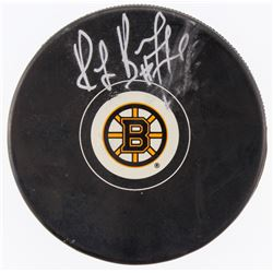 Ray Bourque Signed Bruins Logo Hockey Puck (Fanatics Hologram)
