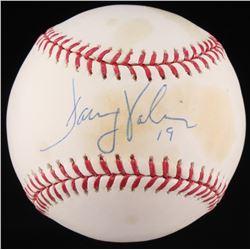 Danny Valencia Signed OML Baseball (MLB Hologram  Fanatics Hologram)