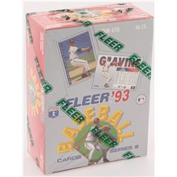 1993 Fleer Series 2 Baseball Card Box with (360) Cards