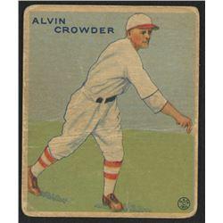 1933 Goudey #122 Alvin Crowder RC