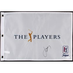 Jordan Spieth Signed The Players Golf Pin Flag (JSA Hologram)