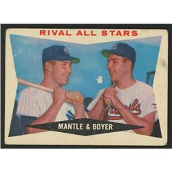 1960 Topps #160 Rival All-Stars / Mickey Mantle / Ken Boyer