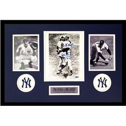 "Yogi Berra  Don Larsen Signed Yankees 16x26 Custom Framed Photo Display Inscribed ""WS PG 10-8-56"" (S"