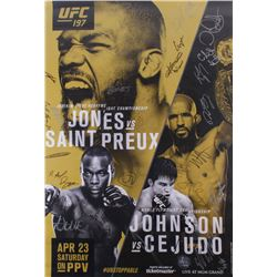 UFC 197 Jones vs. Saint Preux 27x39 Poster Signed by (24) with Jon Jones, Ovince Saint Preux  Demetr