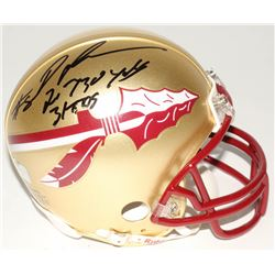 "Devonta Freeman Signed Florida State Seminoles Mini Helmet Inscribed ""2,730 yds""  ""31 TDs"" (Radtke C"