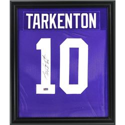 "Fran Tarkenton Signed Vikings 23x27 Custom Framed Jersey Inscribed ""HOF 86"" (Radtke COA)"