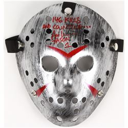 "Ari Lehman Signed Jason ""Friday the 13th"" Hockey Mask Inscribed ""Jason 1""  ""146 Kills And Counting"""