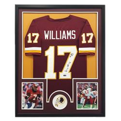 "Doug Williams Signed Redskins 34x42 Custom Framed Jersey Inscribed ""SB XXII MVP"" (Radtke COA)"