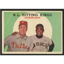 1959 Topps #317 NL Hitting Kings Willie Mays / Richie Ashburn