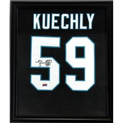 Luke Kuechly Signed Panthers 23x27 Custom Framed Jersey (Radtke COA)