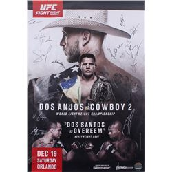 UFC on FOX 17 Dos Anjos vs. Cerrone 27x39 Poster Signed by (26) with Rafael Dos Anjos, Donald Cerron