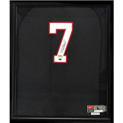 Matthew Stafford Signed Georgia Bulldog 23x27 Custom Framed Jersey (Radtke COA)