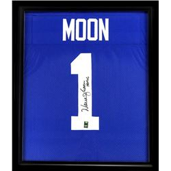 "Warren Moon Signed Seahawks 23x27 Custom Framed Jersey Inscribed ""HOF 06"" (Radtke COA)"