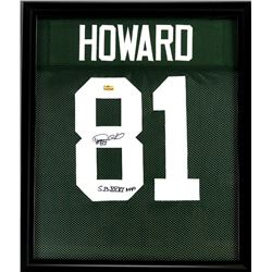 "Desmond Howard Signed Packers 23x27 Custom Framed Jersey Inscribed ""S.B. XXXI MVP"" (Radtke COA)"
