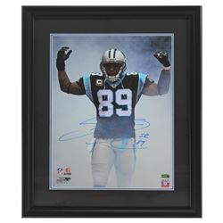 Steve Smith Sr. Signed Panthers 23x27 Custom Framed Photo Display (Radtke COA)