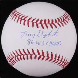 Lenny Dykstra Signed OML Baseball Inscribed  86 WS Champs  (JSA COA)