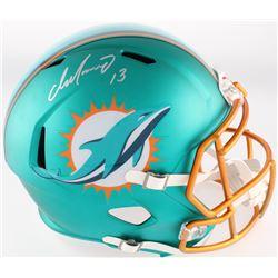 Dan Marino Signed Dolphins Full-Size Blaze Riddell Replica Helmet (LoJo COA)