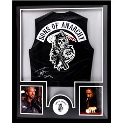 "Tommy Flanagan Signed ""Sons of Anarchy"" 34x42 Custom Framed Vest Inscribed ""Chibs"" (Radtke COA)"