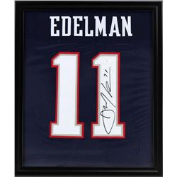 Julian Edelman Signed Patriots 23x27 Custom Framed Jersey (JSA COA)