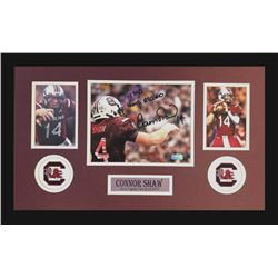 Connor Shaw Signed South Carolina Gamecocks 16x26 Custom Framed Photo Display Inscribed  17-0 Home R
