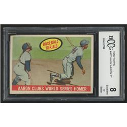 1959 Topps #467 Hank Aaron BT / WS Homer (BCCG 8)