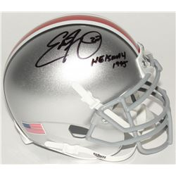 "Eddie George Signed Ohio State Buckeyes Mini Helmet Inscribed ""Heisman 1995"" (Radtke COA)"