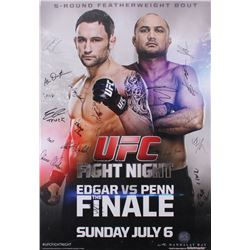 The Ultimate Fighter Team Edgar vs. Team Penn 27x39 Poster Signed by (22) with Frankie Edgar, BJ Pen
