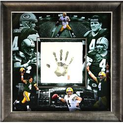 Brett Favre Signed Packers 36x36 Custom Framed Limited Edition Tegata Display (UDA COA)